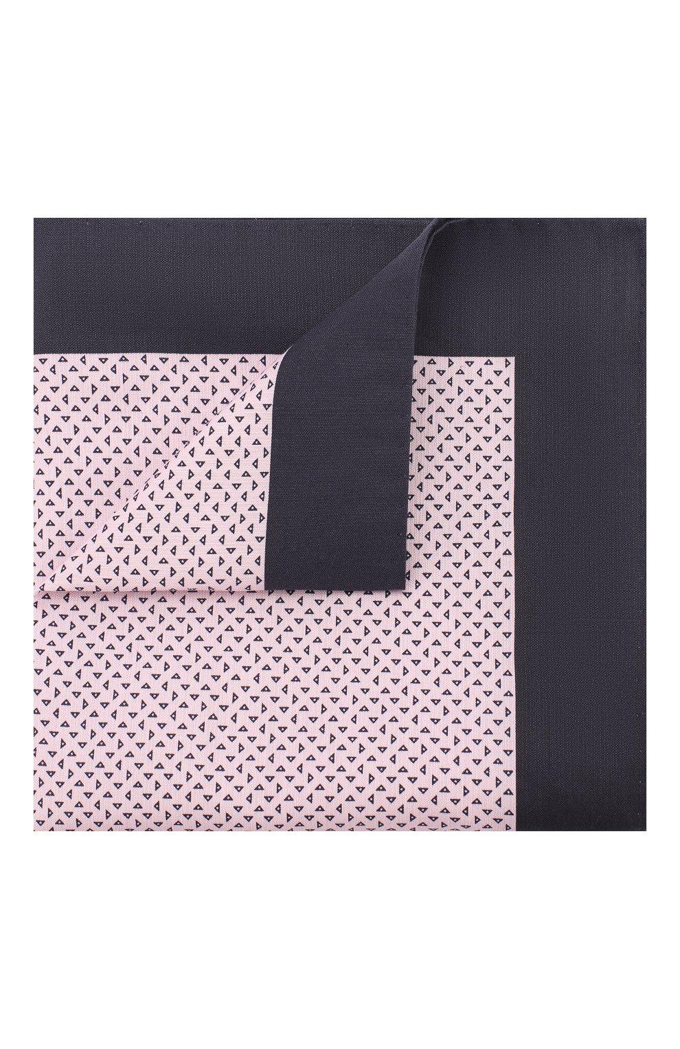 Мужской платок из смеси хлопка и шелка BOSS розового цвета, арт. 50407271 | Фото 1