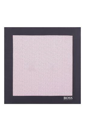 Мужской платок из смеси хлопка и шелка BOSS розового цвета, арт. 50407271 | Фото 3