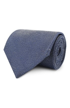 Мужской шелковый галстук GIORGIO ARMANI синего цвета, арт. 360054/9P937 | Фото 1