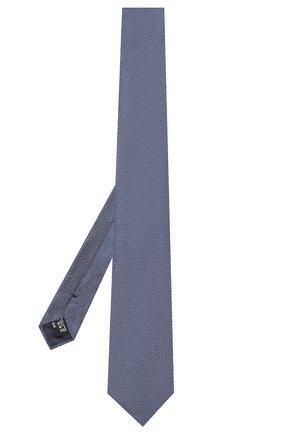 Мужской шелковый галстук GIORGIO ARMANI синего цвета, арт. 360054/9P937 | Фото 2