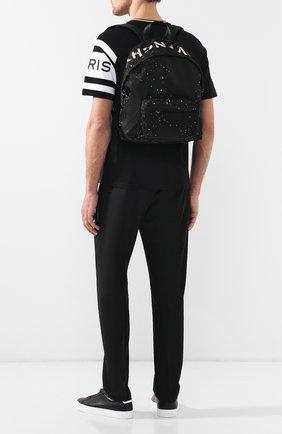 Мужской текстильный рюкзак с кожаной отделкой urban GIVENCHY черного цвета, арт. BK500JK0D6   Фото 2