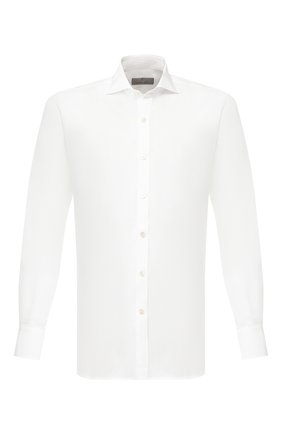 Мужская льняная рубашка с воротником акула CANALI белого цвета, арт. L7B1/GH00406 | Фото 1