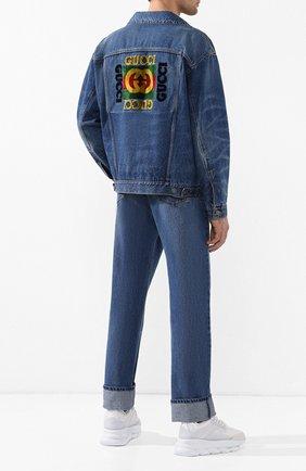 Мужская джинсовая куртка GUCCI синего цвета, арт. 475024/XDAAT | Фото 2