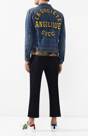 Мужская джинсовая куртка GUCCI синего цвета, арт. 553600/XDAGQ | Фото 2