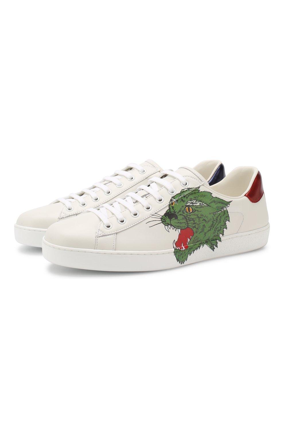 46354349 Белая мужская обувь Gucci по цене от 16 300 руб. купить в интернет-магазине  ЦУМ