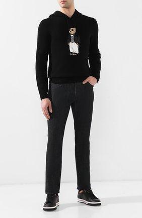 Мужской кашемировый джемпер RALPH LAUREN черного цвета, арт. 790740093 | Фото 2