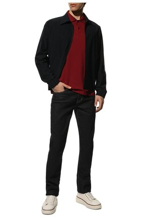 Мужское хлопковое поло PAUL&SHARK бордового цвета, арт. C0P1013/C00 | Фото 2