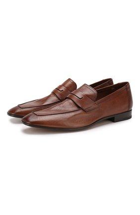 Мужские кожаные пенни-лоферы BERLUTI светло-коричневого цвета, арт. S4392-002 | Фото 1