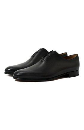 Мужские кожаные оксфорды BERLUTI темно-серого цвета, арт. S4505-002 | Фото 1