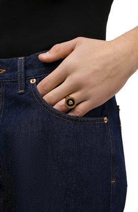 Мужское кольцо VERSACE черного цвета, арт. DG57285/DJMR | Фото 2