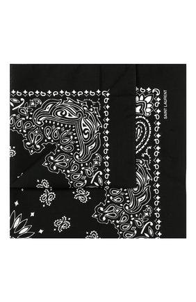 Мужской хлопковый платок SAINT LAURENT белого цвета, арт. 551653/4Y105 | Фото 1