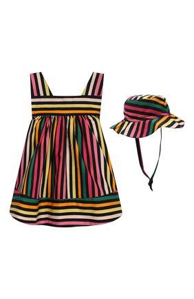 Комплект из хлопкового платья и шляпы | Фото №1