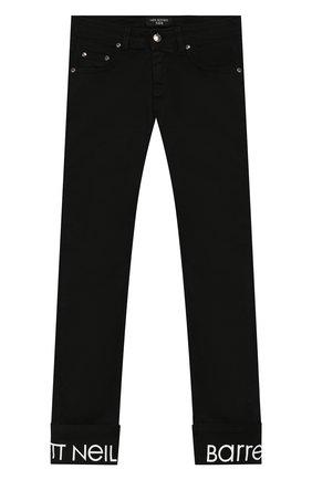 Детские джинсы с отворотами NEIL BARRETT KIDS черного цвета, арт. 018774 | Фото 1