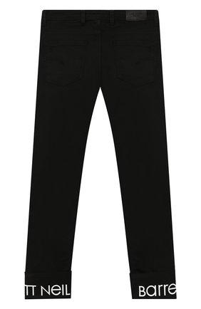 Детские джинсы с отворотами NEIL BARRETT KIDS черного цвета, арт. 018774 | Фото 2