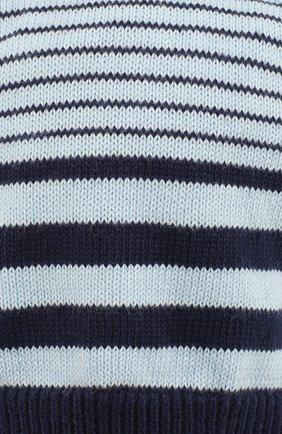 Детского хлопковая шапка EMPORIO ARMANI голубого цвета, арт. 404365/9P540 | Фото 3