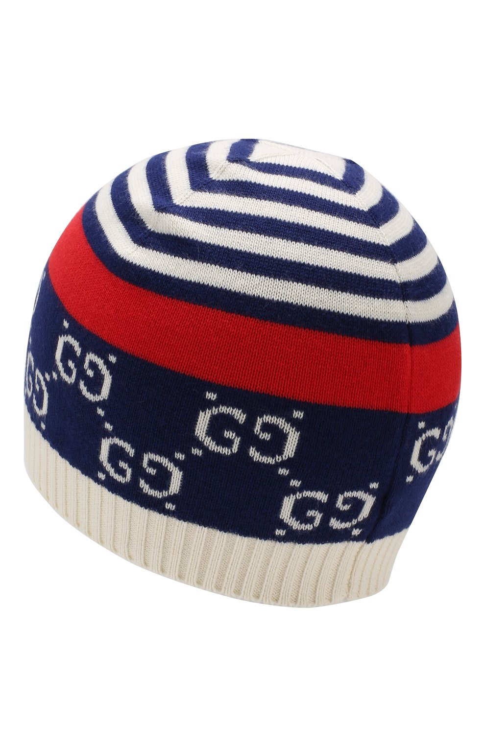 Детского хлопковая шапка GUCCI синего цвета, арт. 556638/4K111 | Фото 2