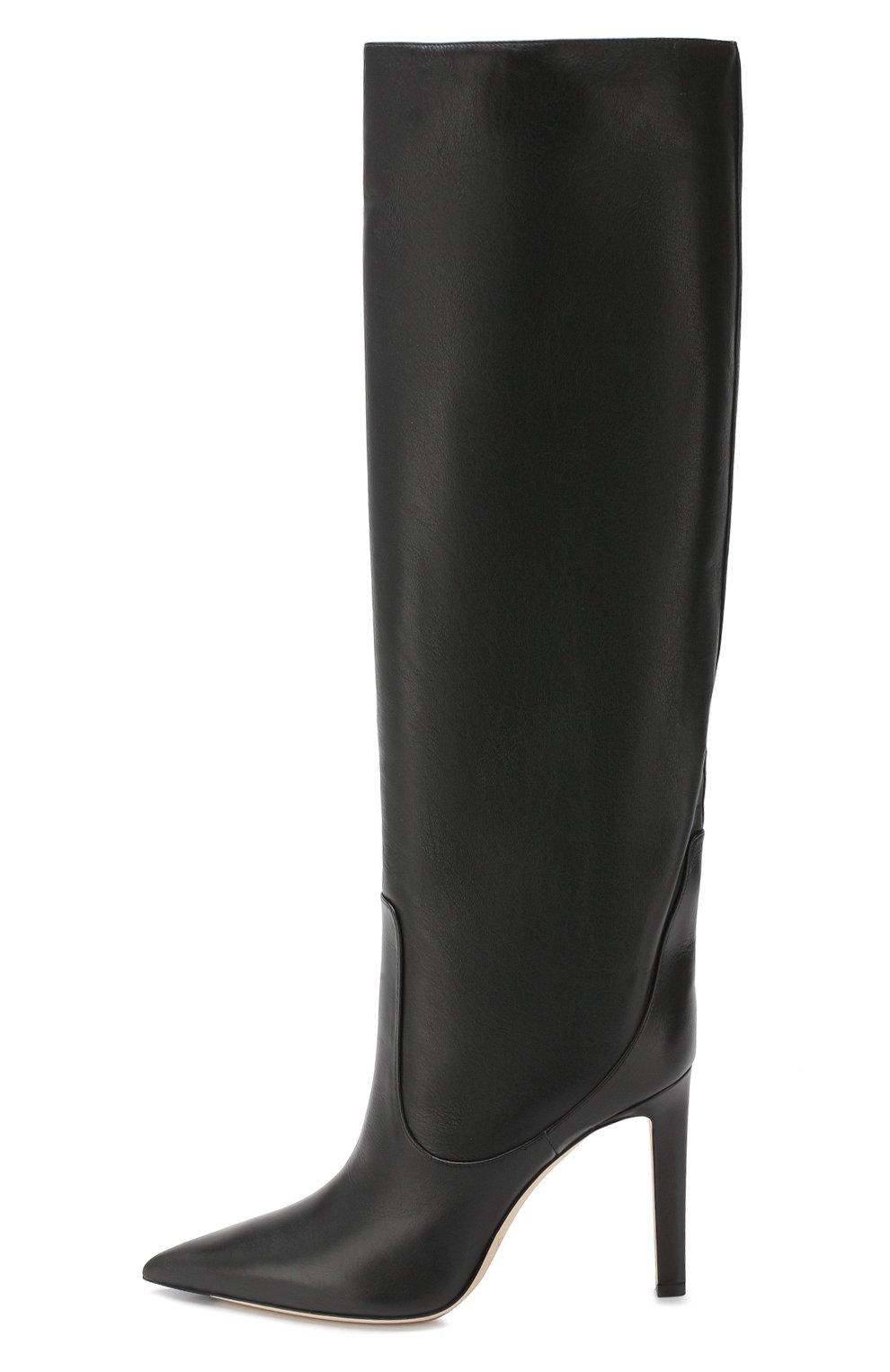 Кожаные сапоги Mavis 100 Jimmy Choo черные   Фото №3