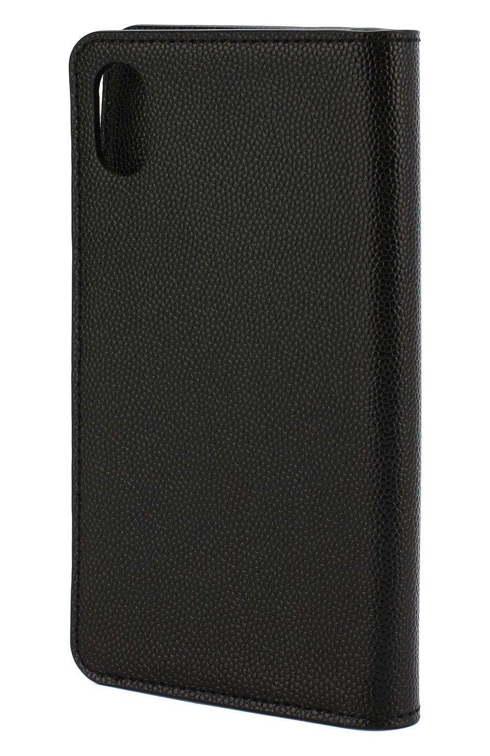 Кожаный чехол для iPhone X Saint Laurent  | Фото №3
