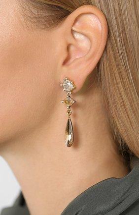 Женские серьги olive  SWAROVSKI золотого цвета, арт. 5456889 | Фото 2