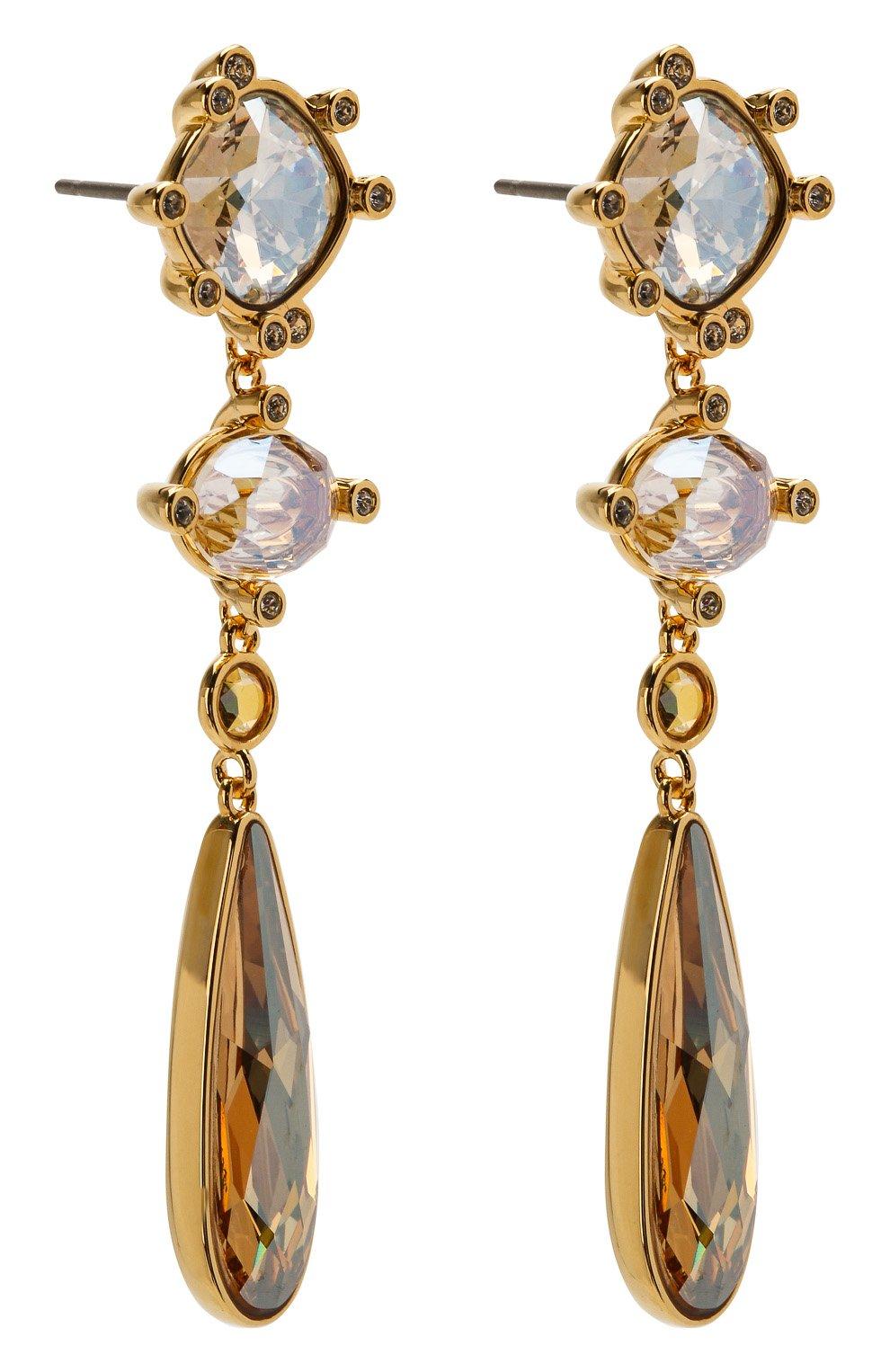 Женские серьги olive  SWAROVSKI золотого цвета, арт. 5456889 | Фото 3