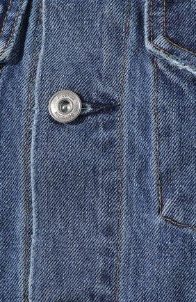 Джинсовый жилет Proenza Schouler голубой | Фото №5
