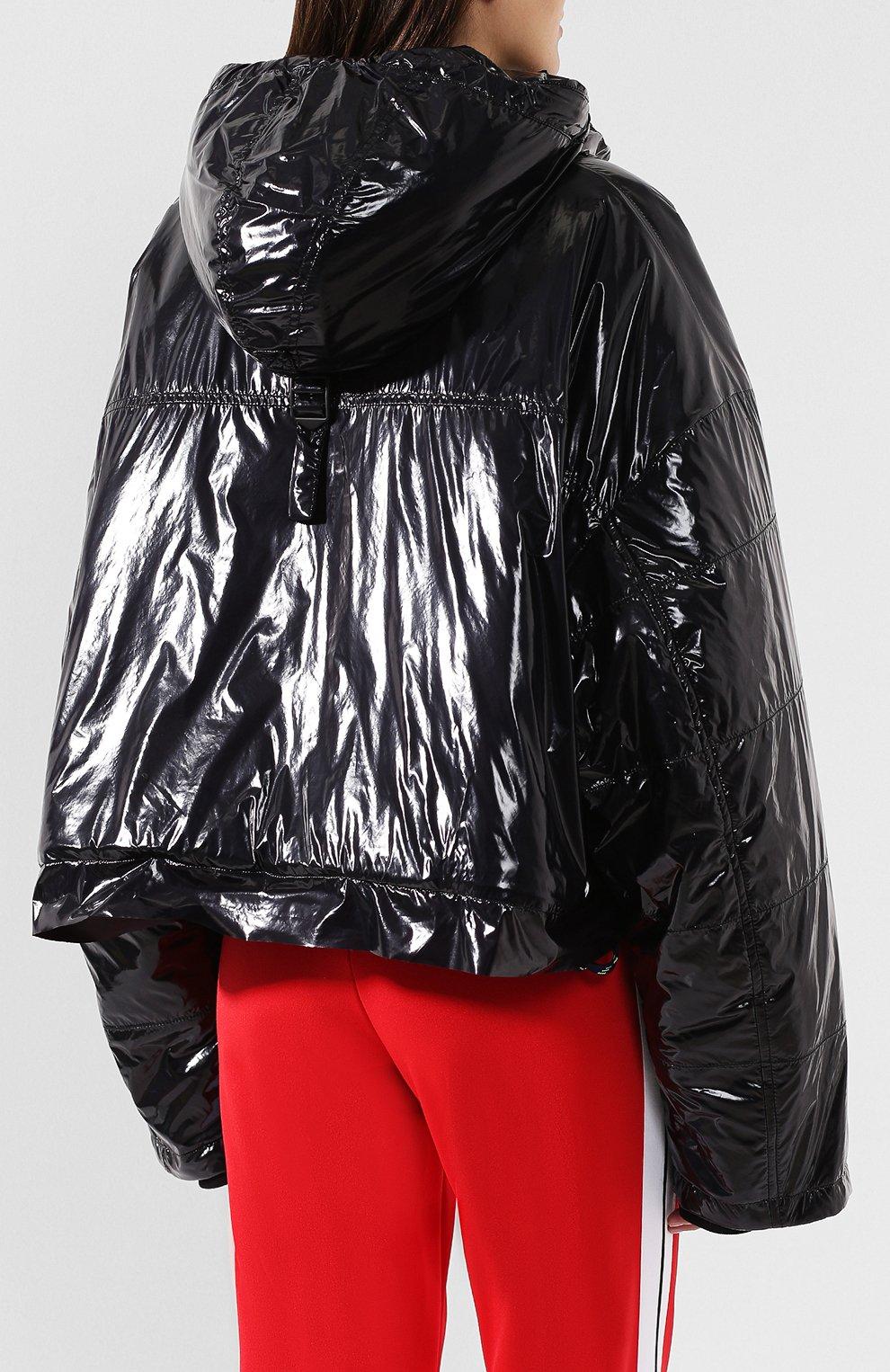 Куртка с капюшоном Maison Margiela черная   Фото №4