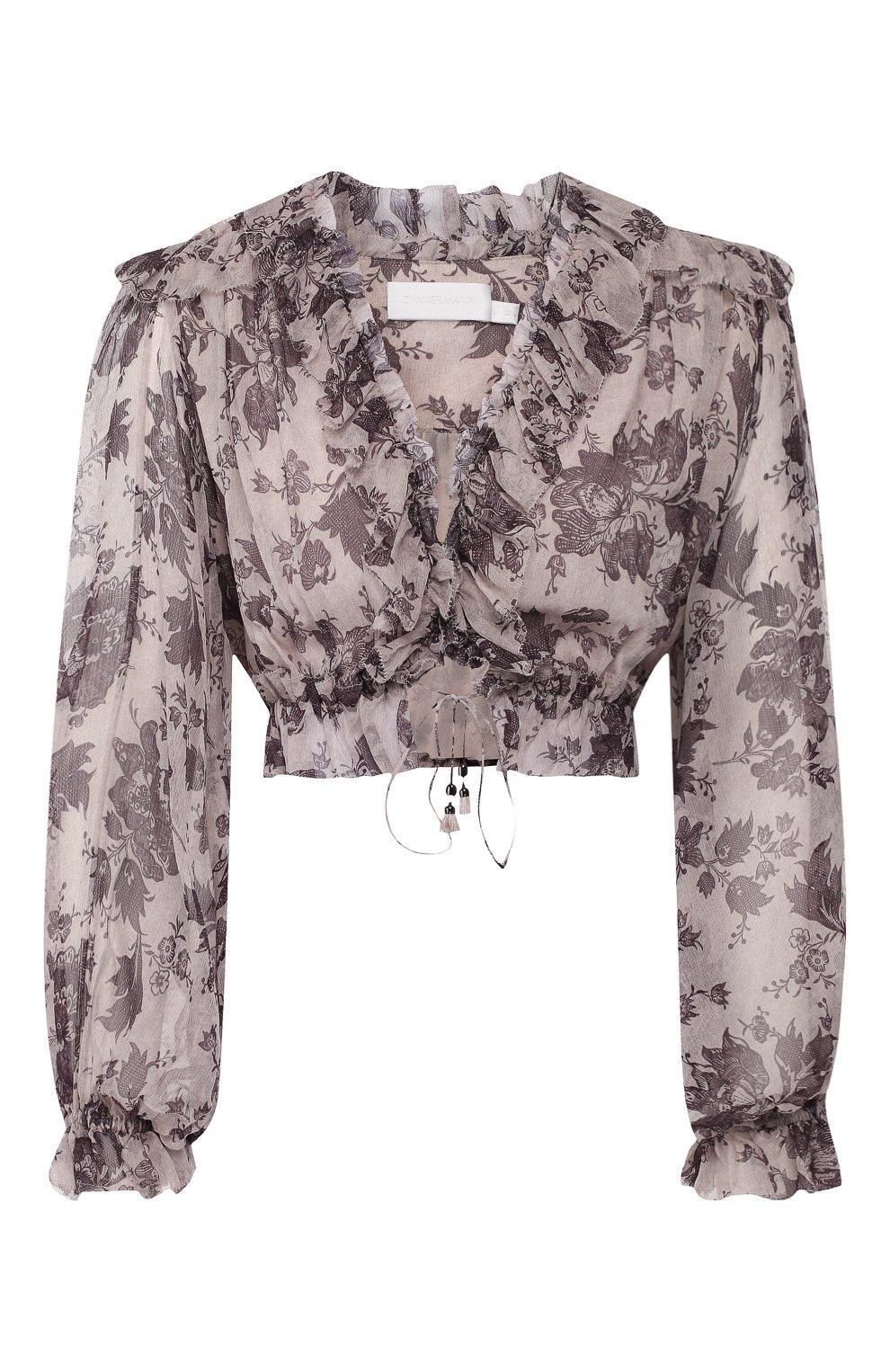 Шелковая блузка Zimmermann    Фото №1