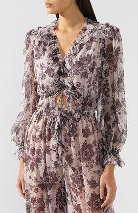Шелковая блузка Zimmermann    Фото №3