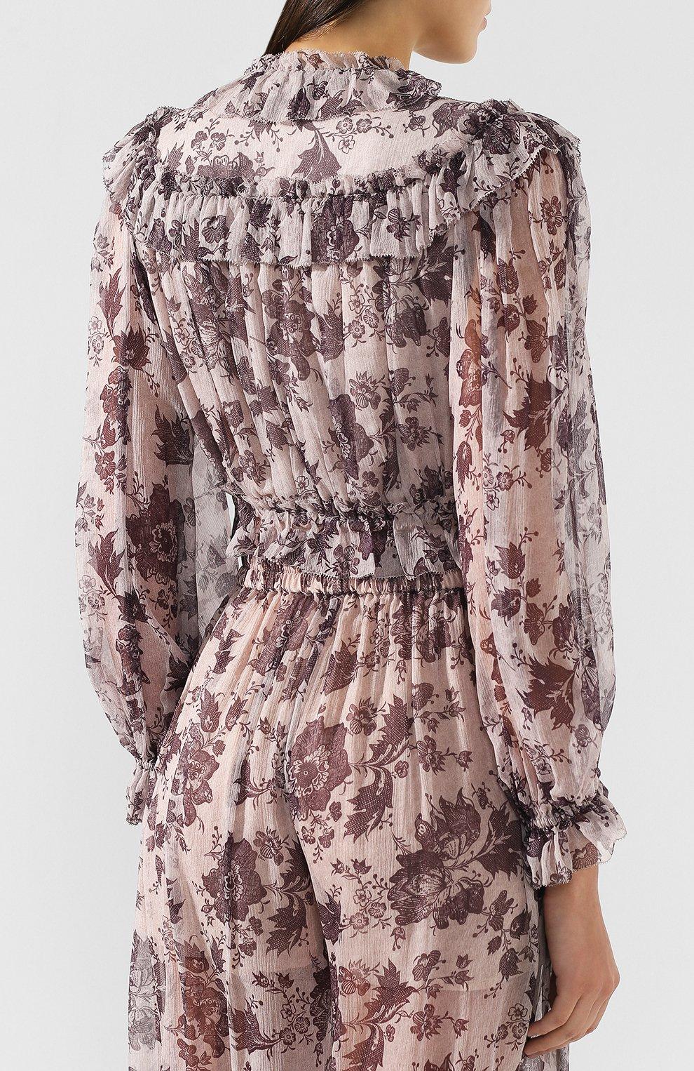 Шелковая блузка Zimmermann    Фото №4