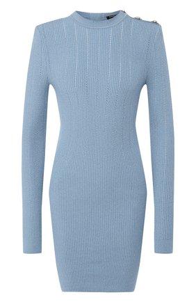 Платье из вискозы Balmain голубое | Фото №1
