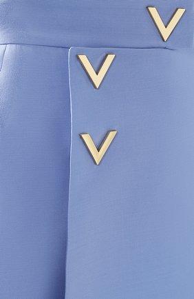 Юбка из смеси шерсти и шелка Valentino голубая | Фото №5