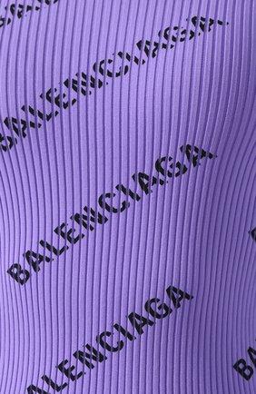 Пуловер с логотипом бренда Balenciaga сиреневый   Фото №5
