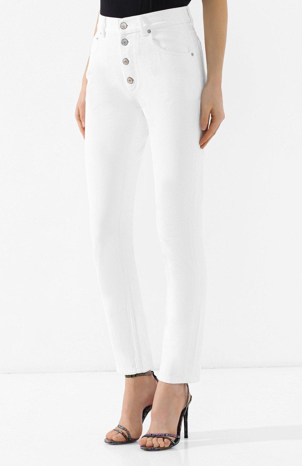 Джинсы прямого кроя Balenciaga белые | Фото №3