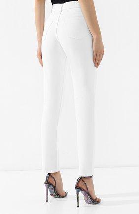 Джинсы прямого кроя Balenciaga белые | Фото №4