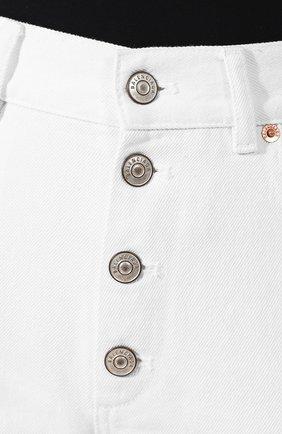 Джинсы прямого кроя Balenciaga белые | Фото №5