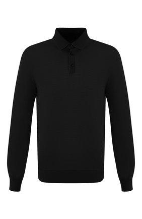 Мужское шерстяное поло ERMENEGILDO ZEGNA черного цвета, арт. USM00/132 | Фото 1