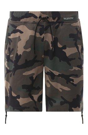Мужские шорты VALENTINO хаки цвета, арт. RV3MD00IIIZ | Фото 1