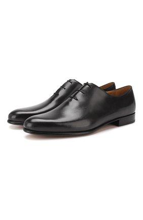 Мужские кожаные оксфорды BERLUTI черного цвета, арт. S4152-003 | Фото 1
