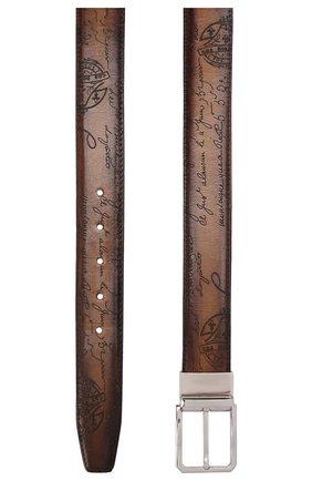 Мужской кожаный ремень BERLUTI светло-коричневого цвета, арт. C0028-002 | Фото 2