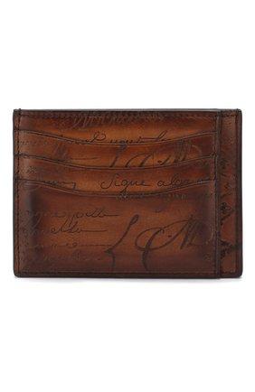 Мужской кожаный футляр для кредитных карт BERLUTI светло-коричневого цвета, арт. N083774 | Фото 1
