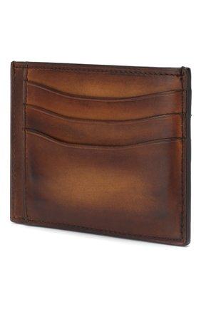 Мужской кожаный футляр для кредитных карт BERLUTI светло-коричневого цвета, арт. N083774 | Фото 2
