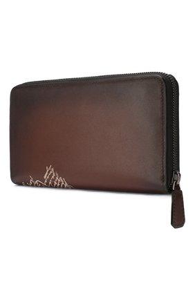 Мужской кожаное портмоне BERLUTI коричневого цвета, арт. N173383 | Фото 2