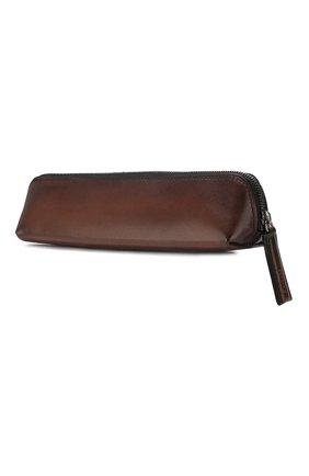Мужской кожаный пенал BERLUTI коричневого цвета, арт. N173389 | Фото 2