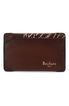 Мужской кожаный футляр для кредитных карт BERLUTI коричневого цвета, арт. N173391 | Фото 1