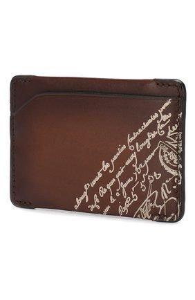Мужской кожаный футляр для кредитных карт BERLUTI коричневого цвета, арт. N173391 | Фото 2