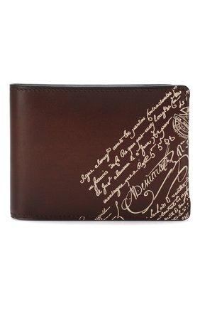 Мужской кожаное портмоне BERLUTI коричневого цвета, арт. N173393 | Фото 1