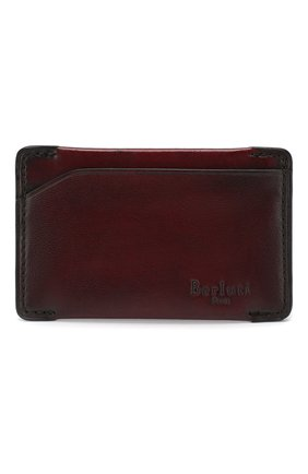Мужской кожаный футляр для кредитных карт BERLUTI бордового цвета, арт. N176392 | Фото 1