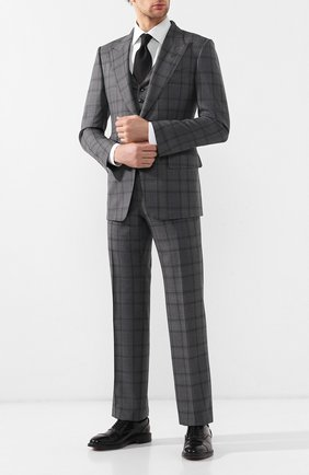 Мужской шерстяной костюм TOM FORD темно-серого цвета, арт. 522R32/31AL41 | Фото 1