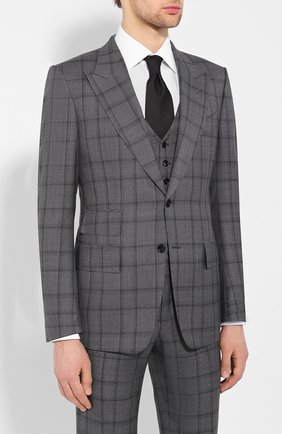 Мужской шерстяной костюм TOM FORD темно-серого цвета, арт. 522R32/31AL41 | Фото 2