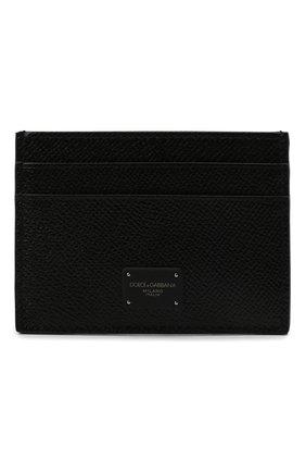 Мужской кожаный футляр для кредитных карт DOLCE & GABBANA черного цвета, арт. BP0330/AZ602 | Фото 1